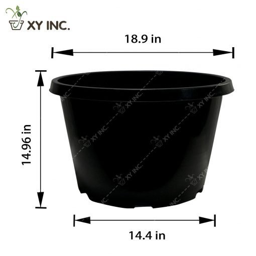Plastic Containers - 15 Gallon (Squat) | Durable Design | XYContainer